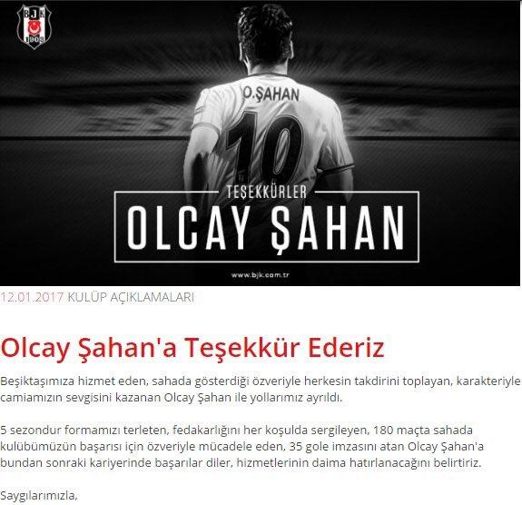 Beşiktaş'tan Olcay Şahan