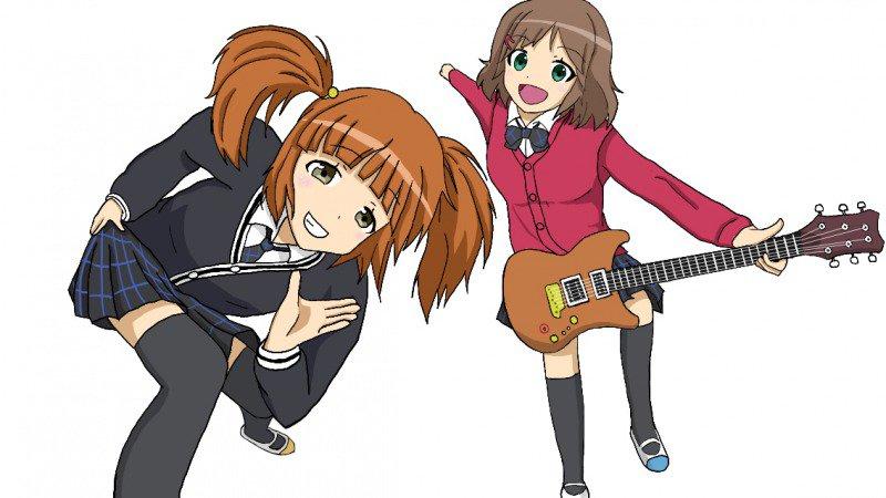 てさぐれ!部活ものより結愛先輩と葵先輩「へぇ、こはるんが主演のアイドルアニメがあるんだ。調べてみよう」