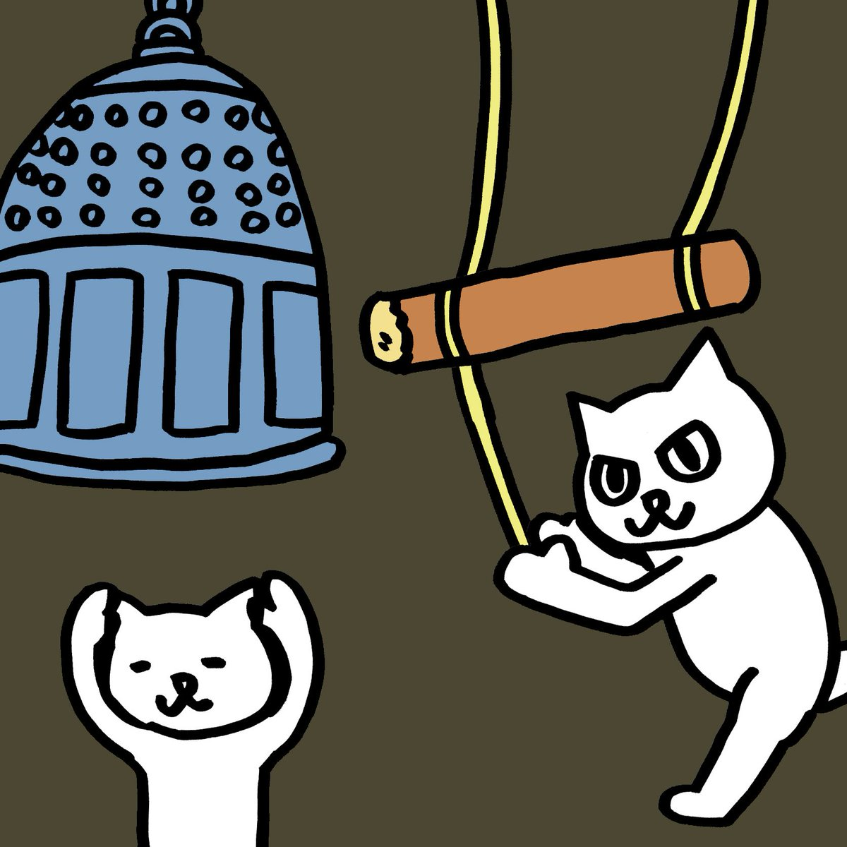 あの鐘を鳴らすのは ねこ。 #大晦日 https://t.co/gWtPkeSCme