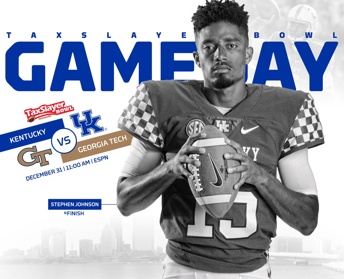 RT @UKFootball: Finally! It's Game Day! Retweet if you're excited about today's game. #TaxSlayerBowl #BBN https://t.co/oiP0fCY4eQ