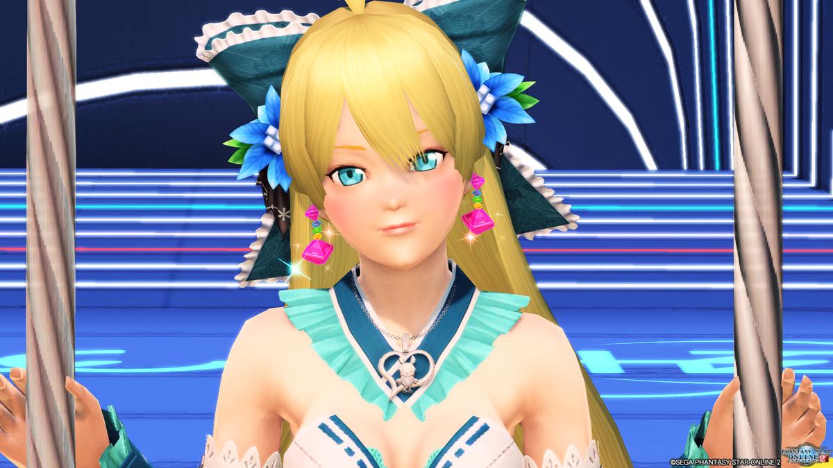 いつものPSO2アニメ風瞳大と新しく買ったイラスト風瞳小と色つき虹彩青でくらべてみる('ω'`)