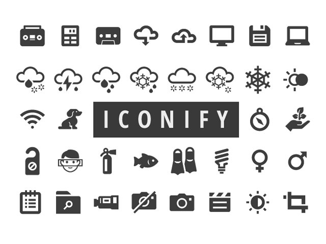 Iconify: 650+ free icons for Web and Apps Freebie