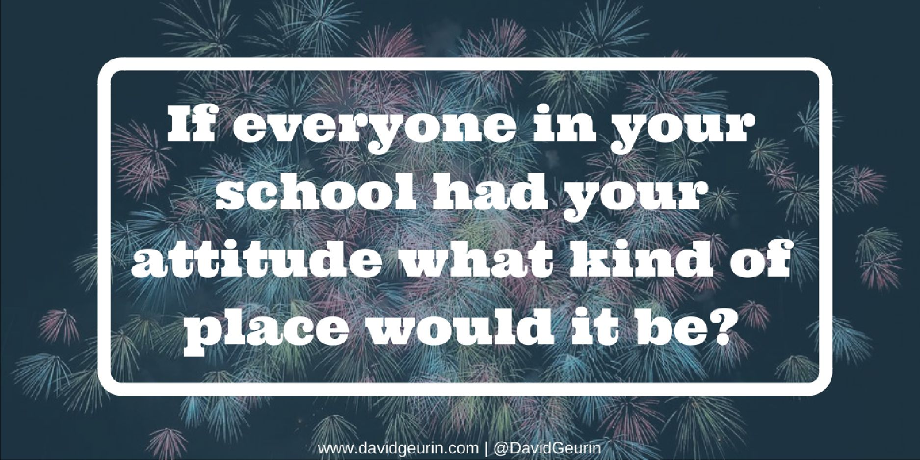 Everyone can be a leader by having a great attitude! What kind of energy are you bringing each day? #satchat #JoyfulLeaders #wgedd https://t.co/xVI6NWwPfB