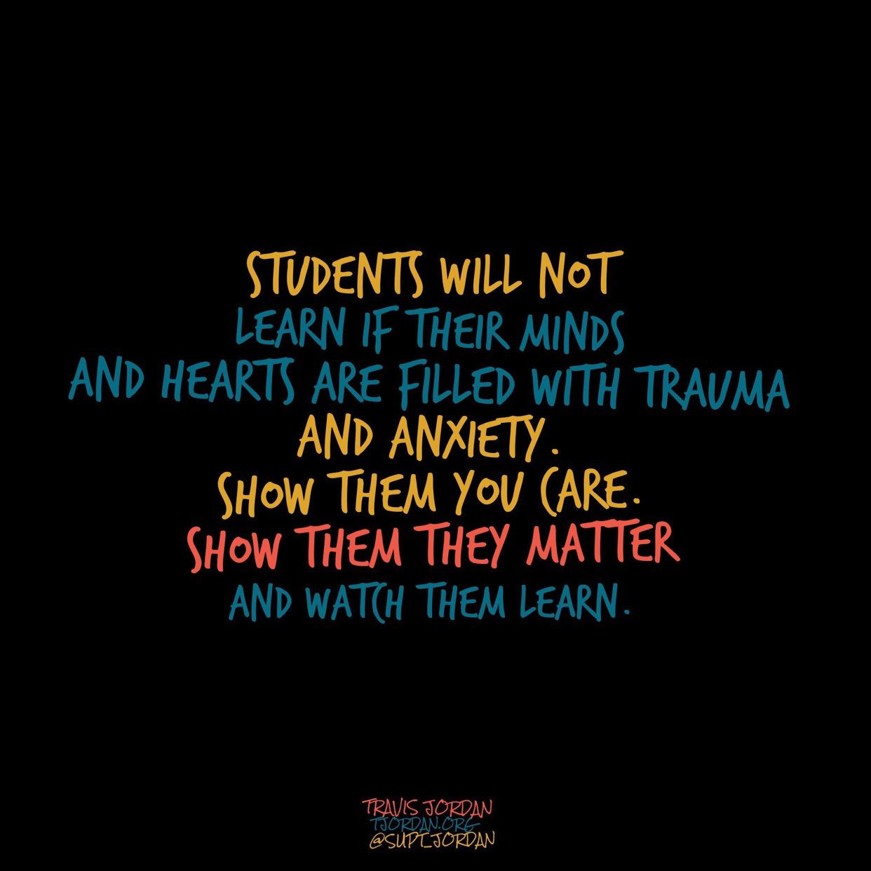 First step to learning is a genuine care for each and every student. #JoyfulLeaders #365in17 https://t.co/pBxSuNrDq7