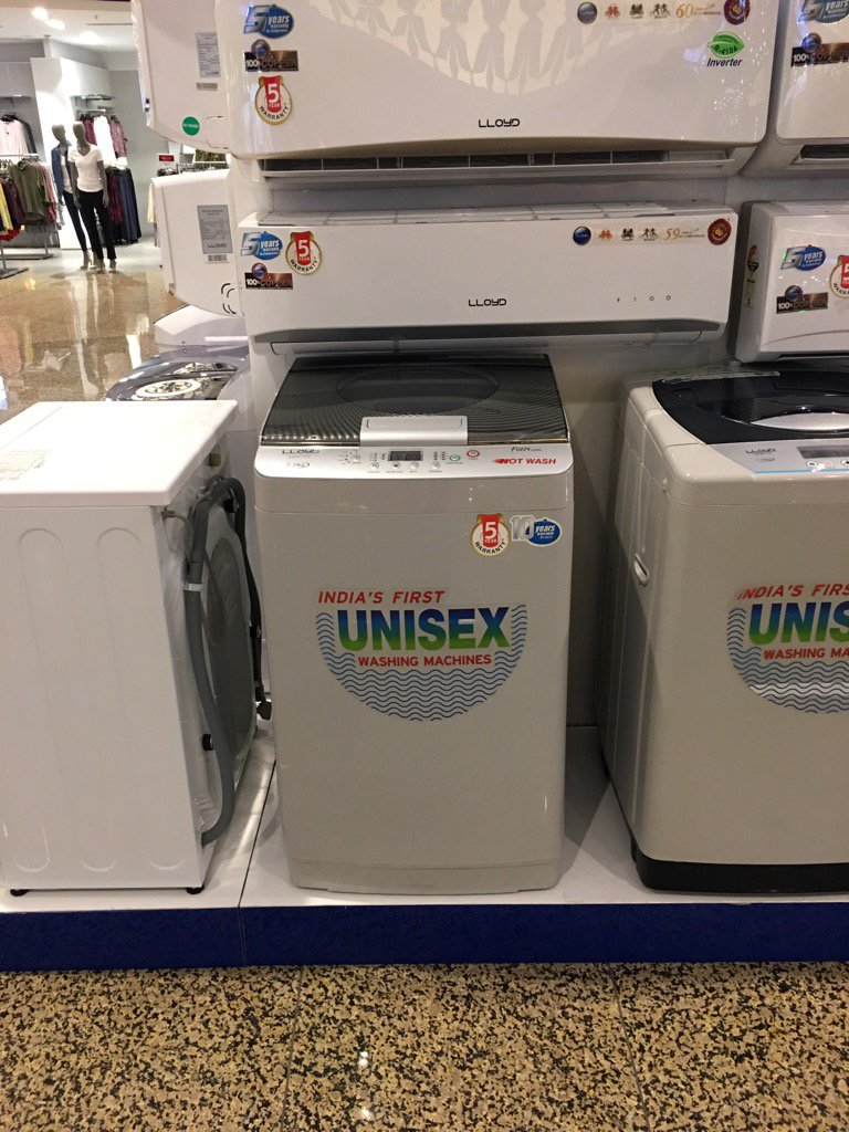 Masculinity so toxic, men need to be told it's also okay for them to use this washing machine. https://t.co/s6z3a4j1gH