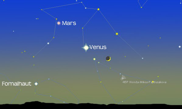 Three planets and a comet in the early evening sky to greet the new year: https://t.co/XwDQCsrzwM https://t.co/txOTngoEYw