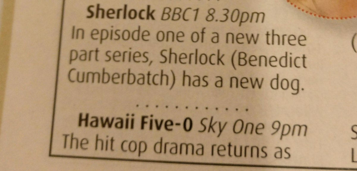 If I had to give one reason why I still watch Sherlock, it would have to be the exciting storylines. https://t.co/4Vx46WXzT9