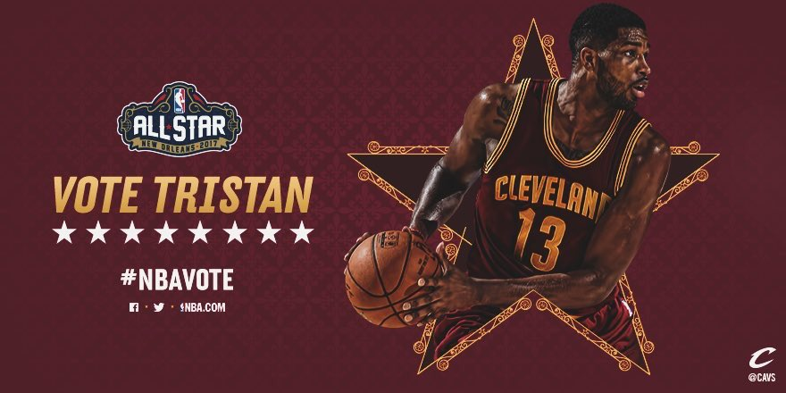 RT @cavs: RETWEET this to #NBAVote for @RealTristan13! https://t.co/2pOYswBIeA
