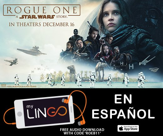 Enjoy #RogueOne in Spanish with @myLINGOapp. Get FREE audio with the code 'ROTW11': https://t.co/dbNaC9YAP4 https://t.co/Tf55fxaRP2