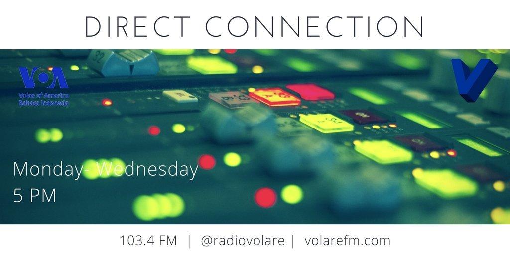 Bujang Dare sedang simak @voaindonesia Direct Connection di Volare 103.4 FM. https://t.co/If58AR2xpn