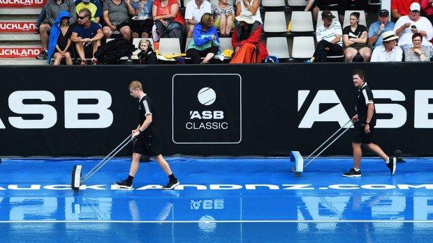 Rain dampens ASB Classic, delays Serena Williams' Auckland debut