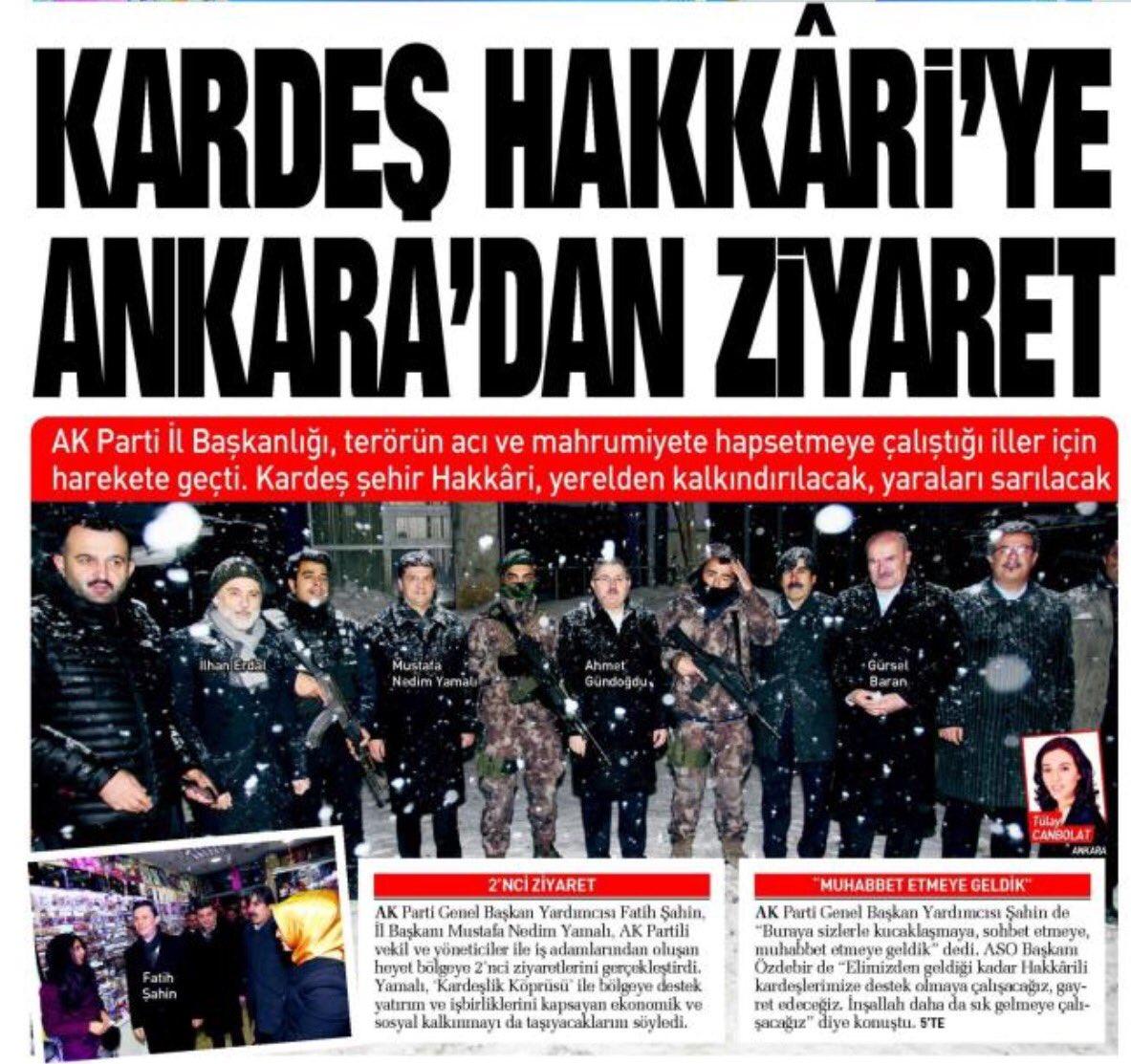 Ankara'dan Hakkari'ye Gönül Köprüsü... https://t.co/7tG2J8wRBY