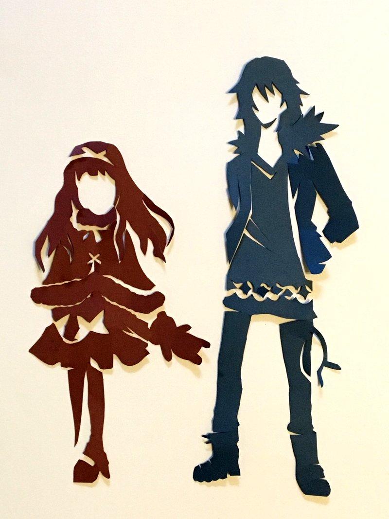 妹に勧められて見た「オカルティック・ナイン」ってアニメで可愛かった亞里亞ちゃんと悪魔さんをハサミで切りました。二人が出て
