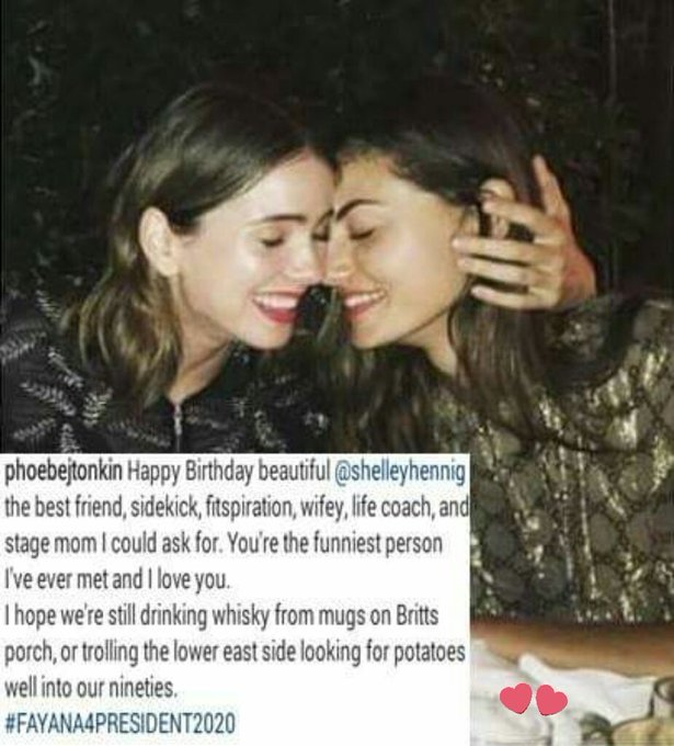 Phoebe Tonkin posted this photo wishing a happy birthday to Shelley Hennig!