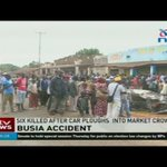 Six killed after car ploughs into a market crowd in Busia