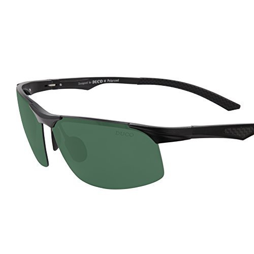 #fashion #style #win #newdeals #free #vsfashionshow Duco Men's Sports Style Polarized Sunglasses Driver Glasses X6 Dark Green Lens