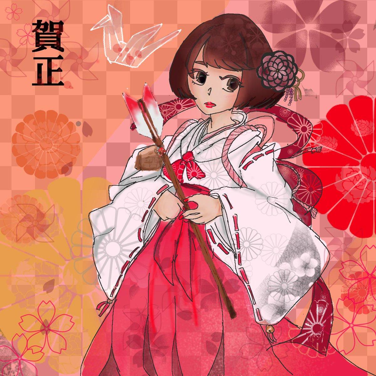 遅れました!今年は酉年ということで、鶴姫(?)を描きさせていただきました!#BASARAクラスタと繋がりたい#戦国bas
