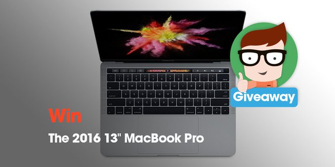 Enter to win your own 2016 Macbook Pro with the cool new Touch Bar