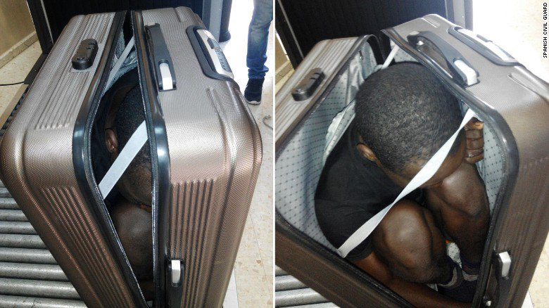 19-year-old African migrant found concealed in luggage of woman entering Spanish territory. https://t.co/GkvcjdwXil https://t.co/qyGTueLP7W