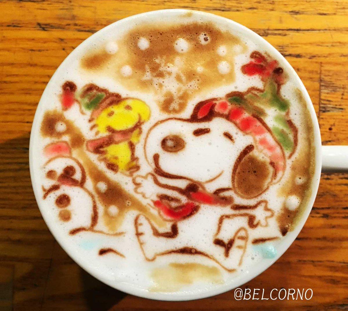 ラテアート【スヌーピー】LatteArt【SNOOPY】#peanuts #snoopy #latteart #スヌーピ