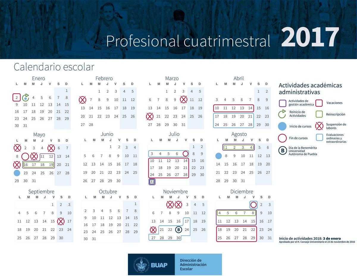 Conoce los calendarios 2017 de la #BUAP https://t.co/MDQchGdFHT