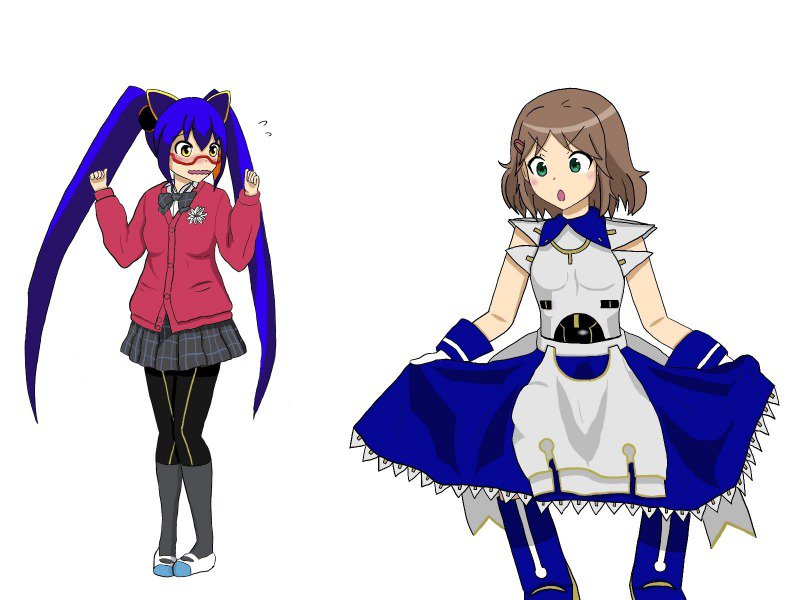 直球表題ロボットアニメよりフジイさん、てさぐれ!部活ものより鈴木結愛先輩おかしい……横に並ぶよう描いていたのにいつの間に