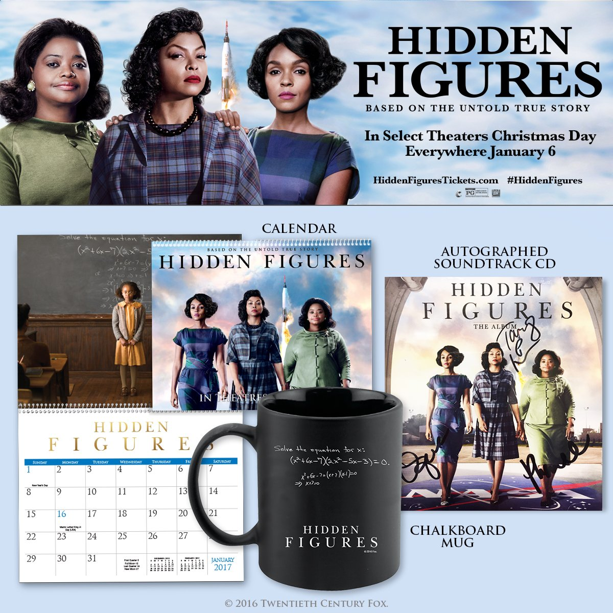 RT for a chance to win this #HiddenFigures movie prize pack featuring an autographed soundtrack CD! #giveaway https://t.co/ESshbp4RBG