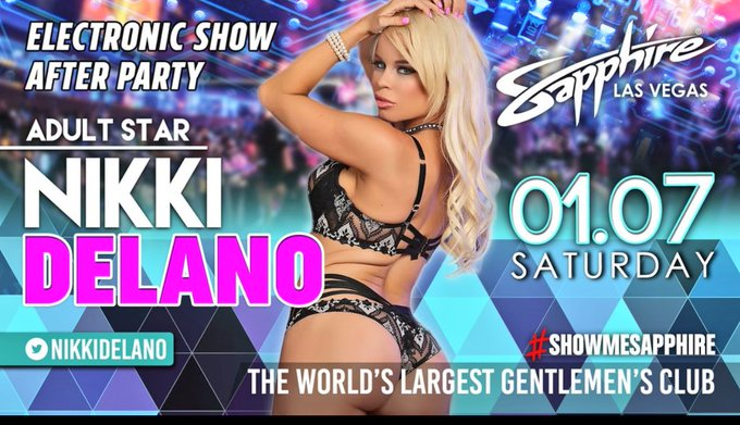 Meet me live this Saturday at the largest Gentlemans club in the world @TheSapphireLV Jan 7th 💦💦💦 https://t