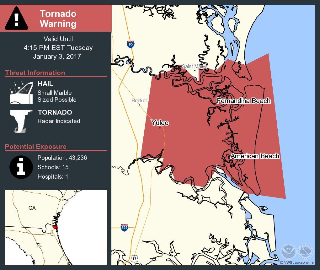 Amelia City Florida Map.Take Cover Tornado Warning Including Yulee Fl Fernandina