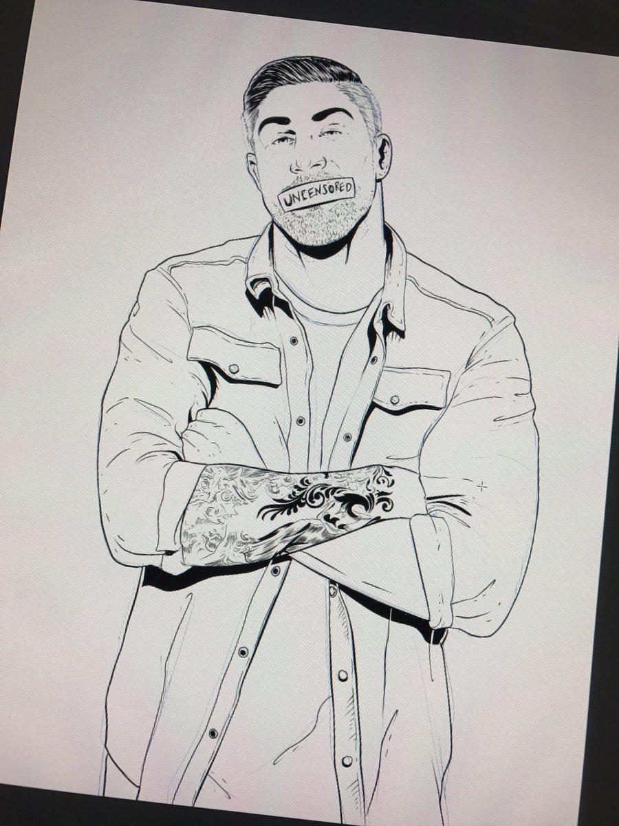 Another update on the custom for @BrendanSchaub. Dude's tattoo is NO JOKE. #TFATK #art https://t.co/AIRmx5McwF