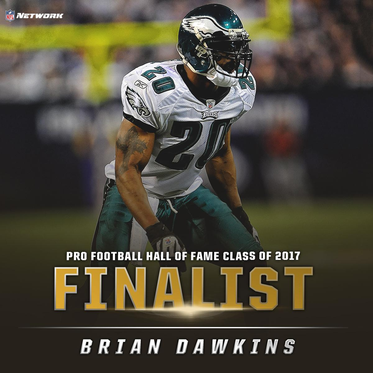 In his 1st year of eligibility, @BrianDawkins is one step closer to the Pro Football Hall of Fame! #PFHOF17 #WeaponX https://t.co/UR84MuxeFT