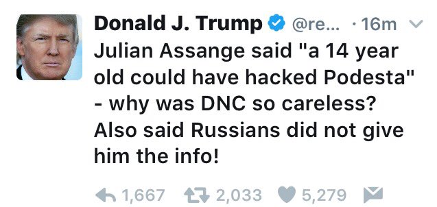 Julian Assange, @realDonaldTrump, is an enemy of this country and freedom. Why are you siding with him? Why are you disloyal to our nation?