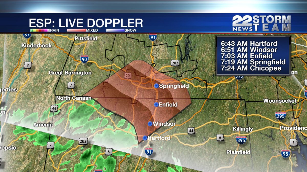 Light showers trying to move in before we mainly dry out. Tracking on 22News around 6:43am https://t.co/5BuRZBdCNo https://t.co/fTD9AcFWwL