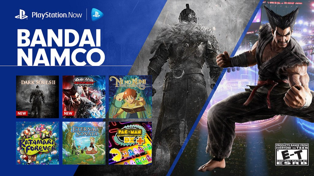 Dark Souls 2 and Tekken Tag Tournament 2 join the PS Now streaming library today: https://t.co/oJ3lIhDGNw https://t.co/MTJdzMZkfJ