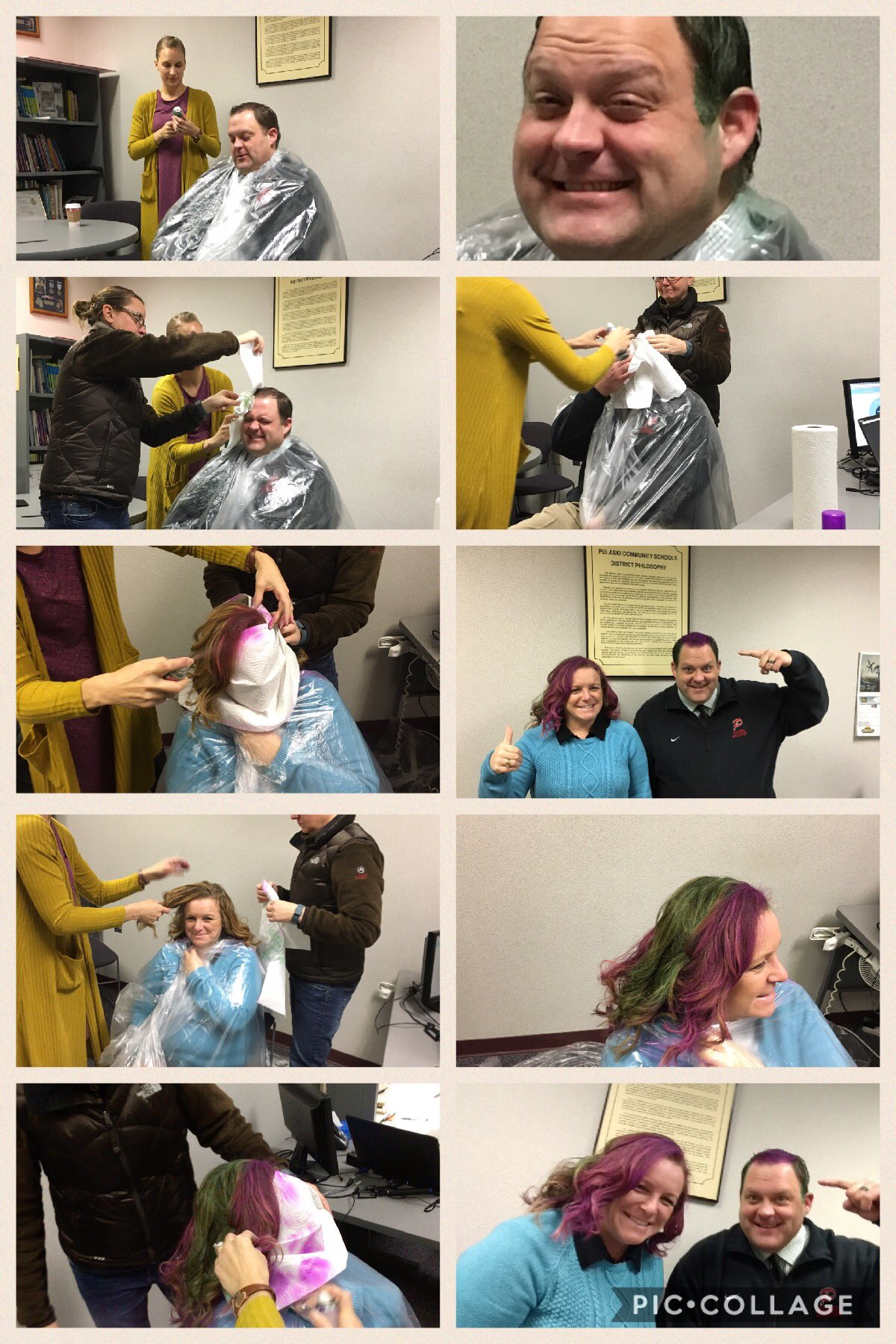 #Raiderstrong- ashes to ashes, dust to dust, act scores were awesome so dyeing our hair is a must. https://t.co/ciWbXfL8Qs