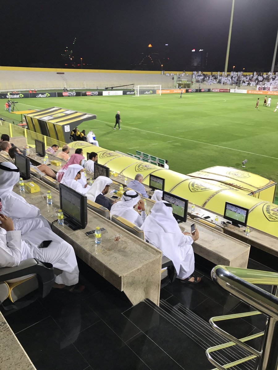 Bit of treatment at the Presidents Cup game this evening between Al Jazira and Al Wahda #UAE #Football https://t.co/RFKgArbKb4