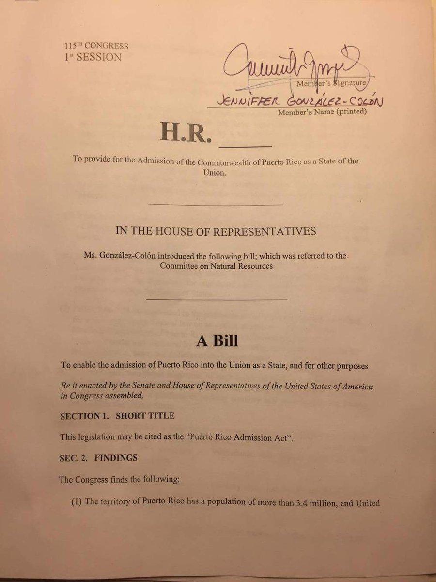 Lee el acta de admisión de PR a EU de la autoría de Comisionada Residente Jenniffer González https://t.co/PZKy5Uj4yF https://t.co/0ZrzB85nms