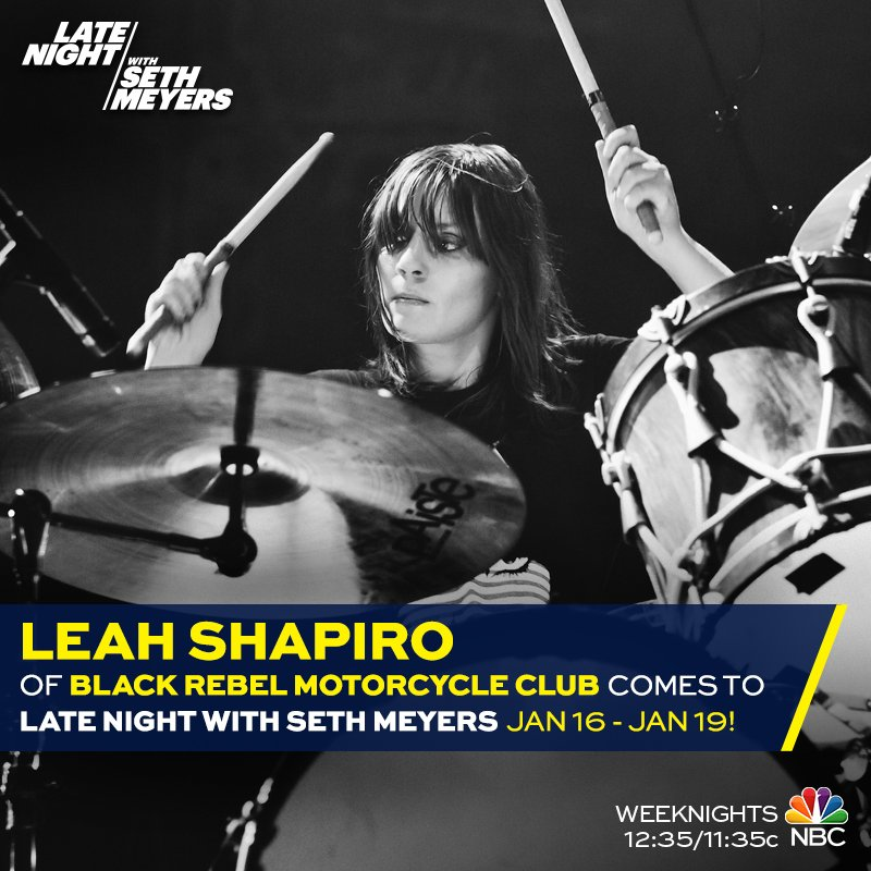 Leah will be performing on @LateNightSeth January 16th - 19th. Tune in! https://t.co/xYToiEh9Pq