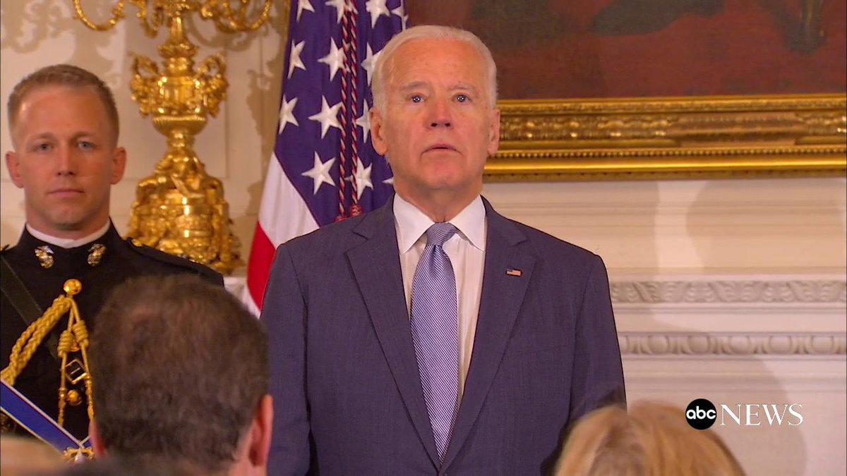 "WATCH: President Obama awards Presidential Medal of Freedom with Distinction to his ""brother,"" VP Joe Biden https://t.co/v1rW0gkU0K"