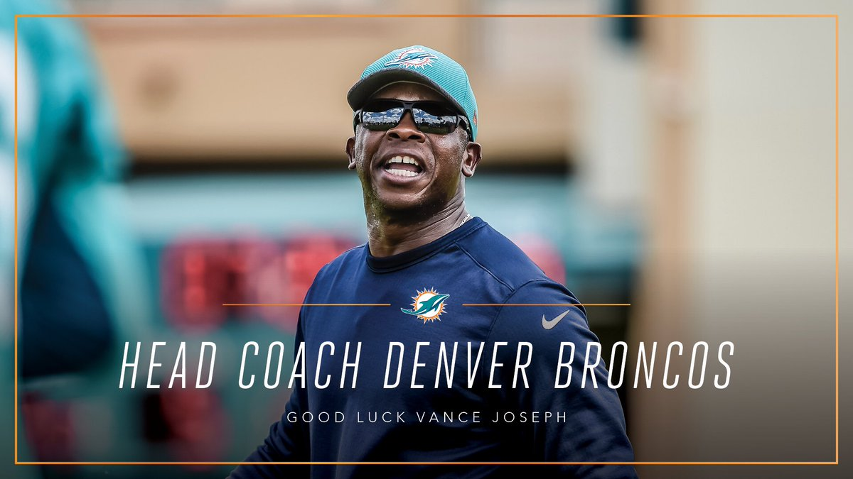 Thank you, Vance Joseph, and best of luck in Denver.
