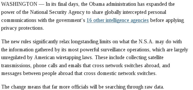 Context: NSA's EO 12333 surveillance occurs without warrants or court approval. Now, domestic agencies get it raw. https://t.co/JkbJhTrUsI