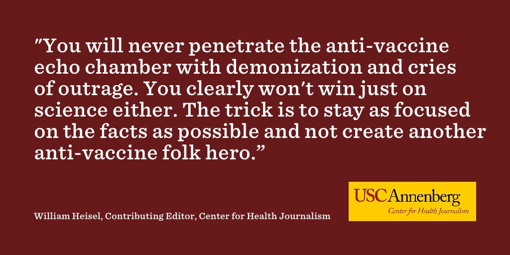 How reporters can avoid making folk heroes out of #vaccine doubters, via @wheisel https://t.co/uTUsPqzEyL https://t.co/THBSAJNNt0