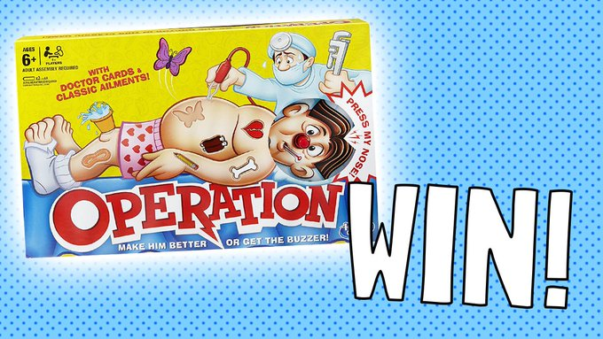 Enter here to win an operation game! competition prize FreebieFriday