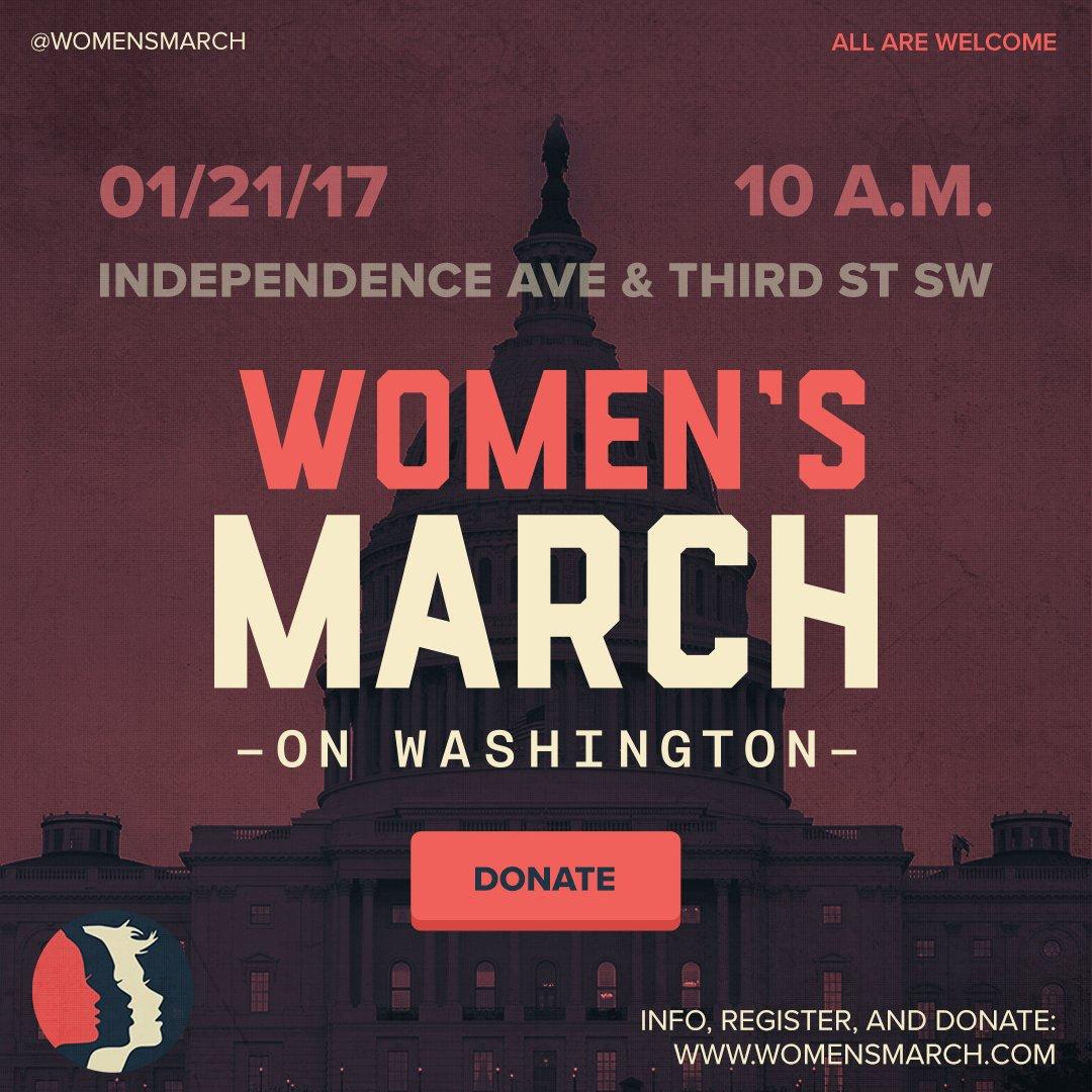 RT @womensmarch: 16 days! Support the Women's March on Washington today https://t.co/eNUNMAL4ji https://t.co/eRmw6iwcj8