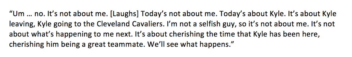 Paul Millsap when asked if he thought about his own future with the Hawks in light of the reported Korver deal: https://t.co/vAJDQ0tqKW