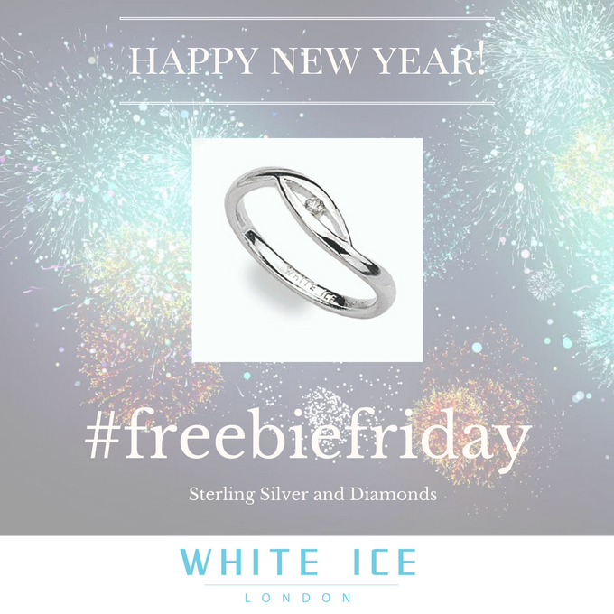 WhiteIceLondon Happy NY everyone! Check out this beautiful FreebieFriday Silver & Diamond ring. RT+F to win Shop