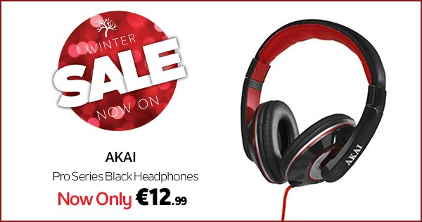 Pick up a pair of Akai headphone for just €12.99 at DID Electrical! https://t.co/12kVQHrwGY  #WinterSale https://t.co/5F8Ai57o3V
