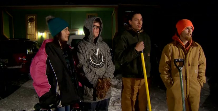 Teens shoveling snow for cash unexpectedly save a stranger's life