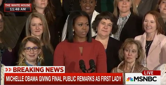 WATCH LIVE:  Michelle Obama gives her final remarks as first lady