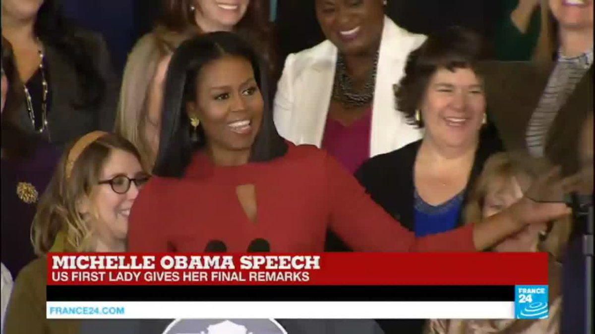 VIDEO -  US - First lady Michelle Obama gives her final speech